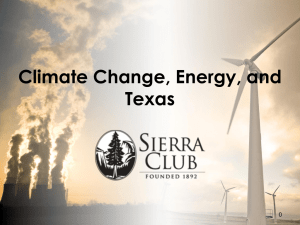 Climate Change, Energy, and Texas