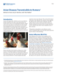 Avian Diseases Transmissible to Humans - EDIS