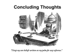 Lecture 4/23: Concluding Thoughts
