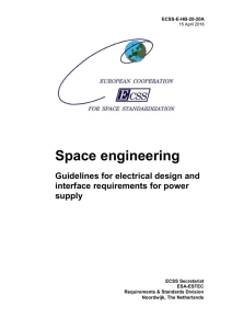 Guidelines for electrical design and interface