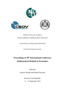Proceedings of 30th International Conference Mathematical