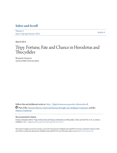Τύχη: Fortune, Fate and Chance in Herodotus and Thucydides