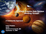 Earth Science Data System Working Groups