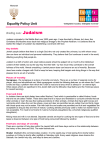 Judaism - Equality Policy Unit