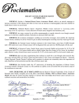 2016 Breast Cancer Awareness Proclamation