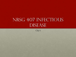 Nrsg 407 Infectious Disease