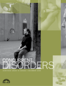 Concurrent Disorders - Canadian Centre of Substance Abuse