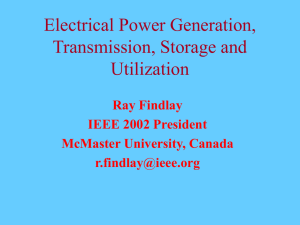 Electrical Power Generation, Transmission, Storage and Utilization