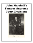 John Marshalls Famous Supreme Court Decisions
