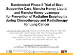 Randomized Phase II Trial of Best Supportive Care, Manuka Honey