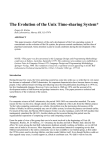 The Evolution of the Unix Time