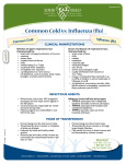 Common Cold vs. Influenza (Flu)