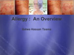Allergy : An Overview