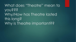 Who*s Who in the Theatre?