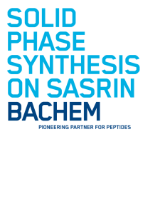 Solid Phase Synthesis on SASRIN