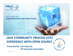 java community process (jcp) experience with open - Docbox