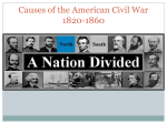 Causes of the American Civil War 1820-1860