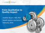 From Qualitative to Quality Impact