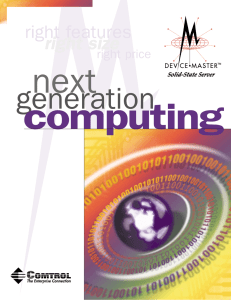 DeviceMaster: Next Generation Computing Brochure
