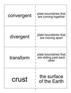 convergent divergent transform the surface of the Earth