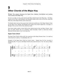 Other Chords of the Major Key