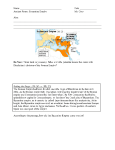 Byzantine Empire Notesheet