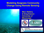 Modeling Seagrass Community Change Using Remote Sensing and