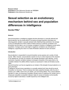 Sexual Selection IQ