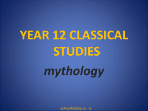 What is a myth? - AC Classical Studies