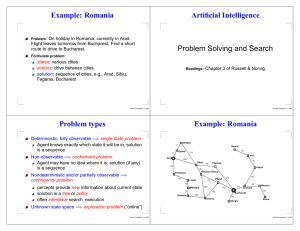 Artificial Intelligence Problem Solving and Search Example