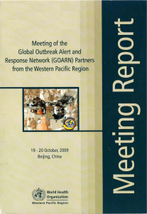 Meeting of the Global Outbreak Alert and Response Network