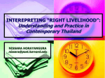 "INTEREPRETING ""RIGHT LIVELIHOOD"":"