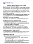 Vancomycin Resistant Enterococci (VRE) Fact Sheet