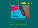 Identify geographical features in their local region (eg, deserts