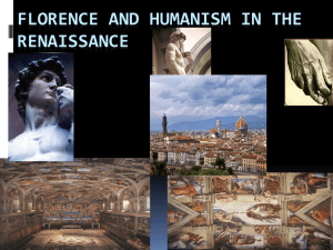 Florence and Humanism in the Renaissance