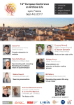 14th European Conference on Artificial Life Lyon, France Sept 4