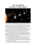 The Asteroid Belt - peterboroughastronomy.com
