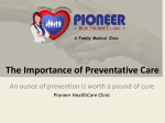 Preventive Services - Pioneer Healthcare Clinic