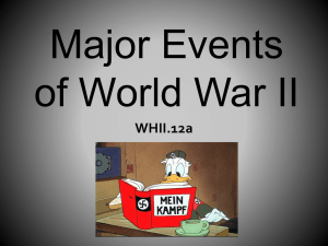 Major Events of World War II