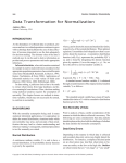 Data Transformation for Normalization