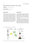 Data Warehouse Back-End Tools