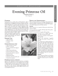 Evening Primrose Oil - American Botanical Council