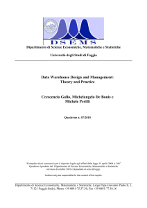 Data Warehouse Design and Management: Theory and Practice