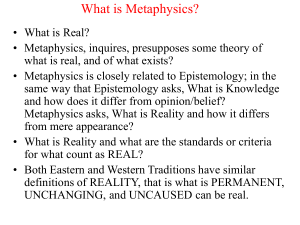 What is Metaphysics?