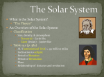 The Solar System - Academic Resources at Missouri Western