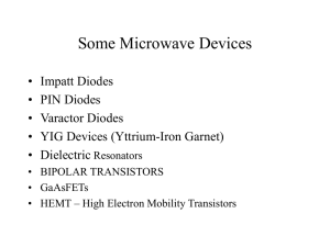 Microwave Solid State Devices
