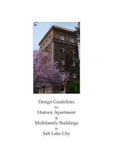 Design Guidelines Historic Apartment Multifamily Buildings Salt