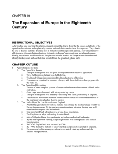 The Expansion of Europe in the Eighteenth Century