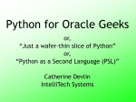 Python For Oracle Geeks