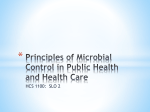 Principles of Microbial Control in Public Health and Health Care